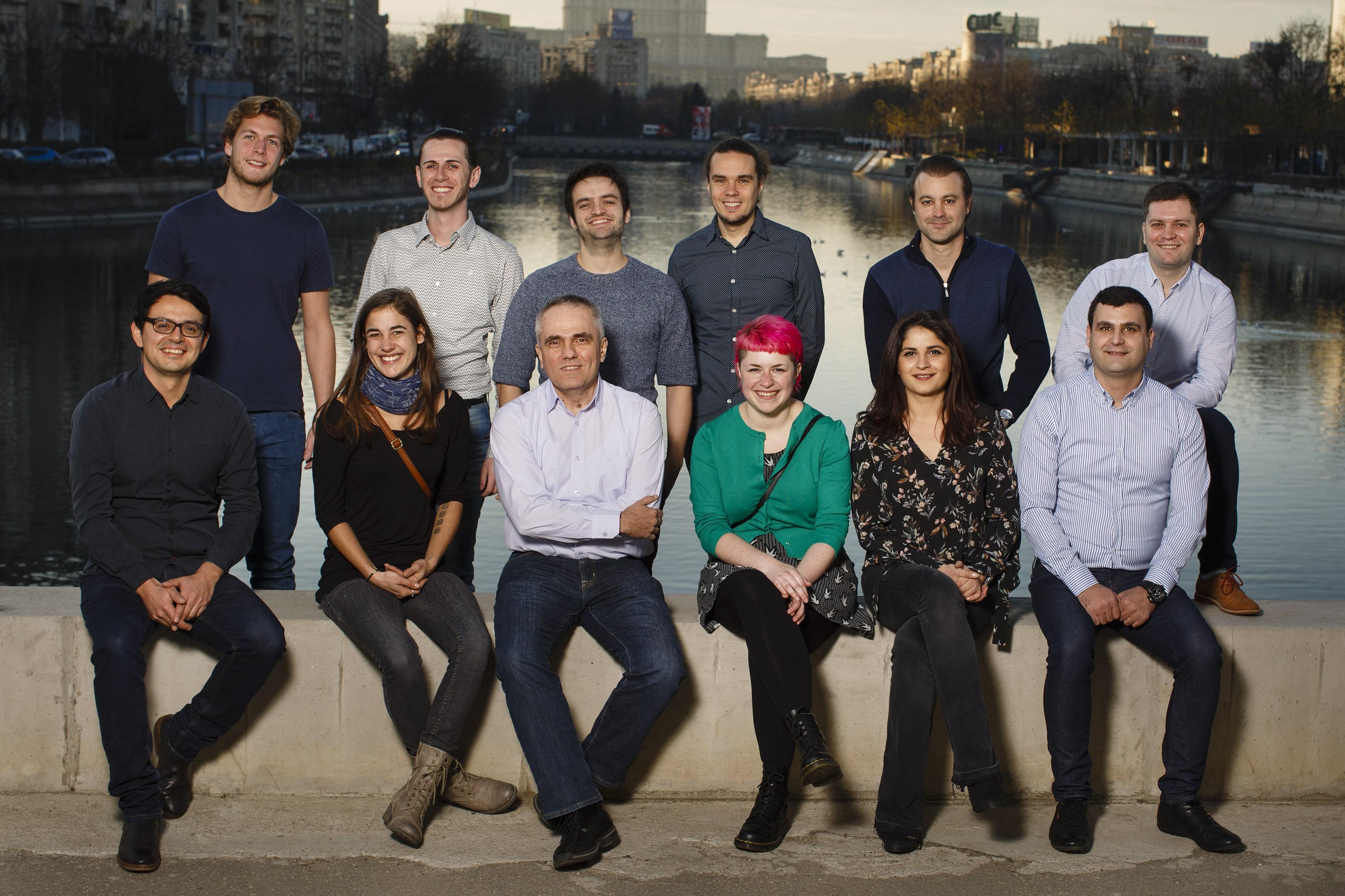 Teamfoto kurz vor dem Weihnachtsessen 2017