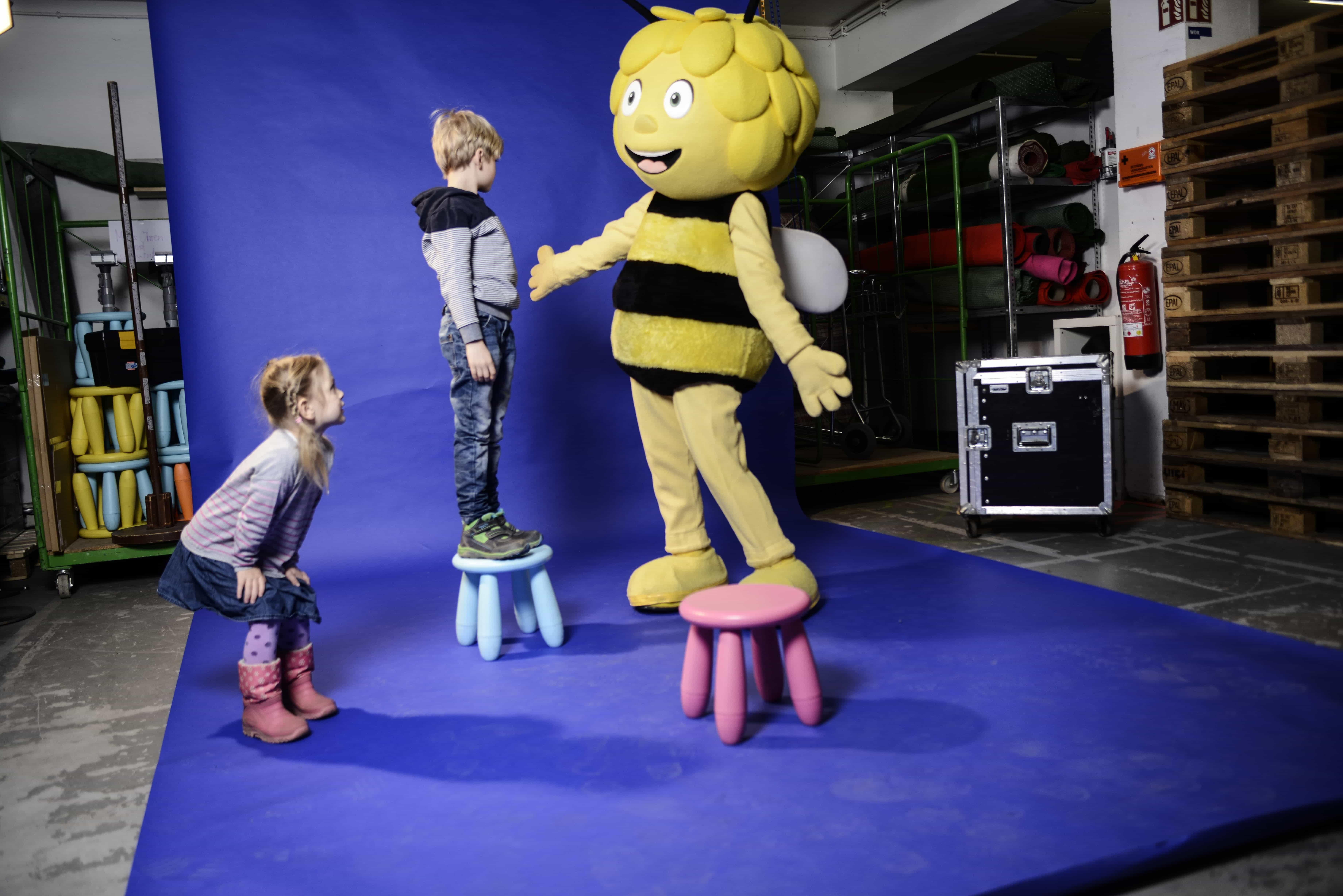 Rehearsal with Maya the bee